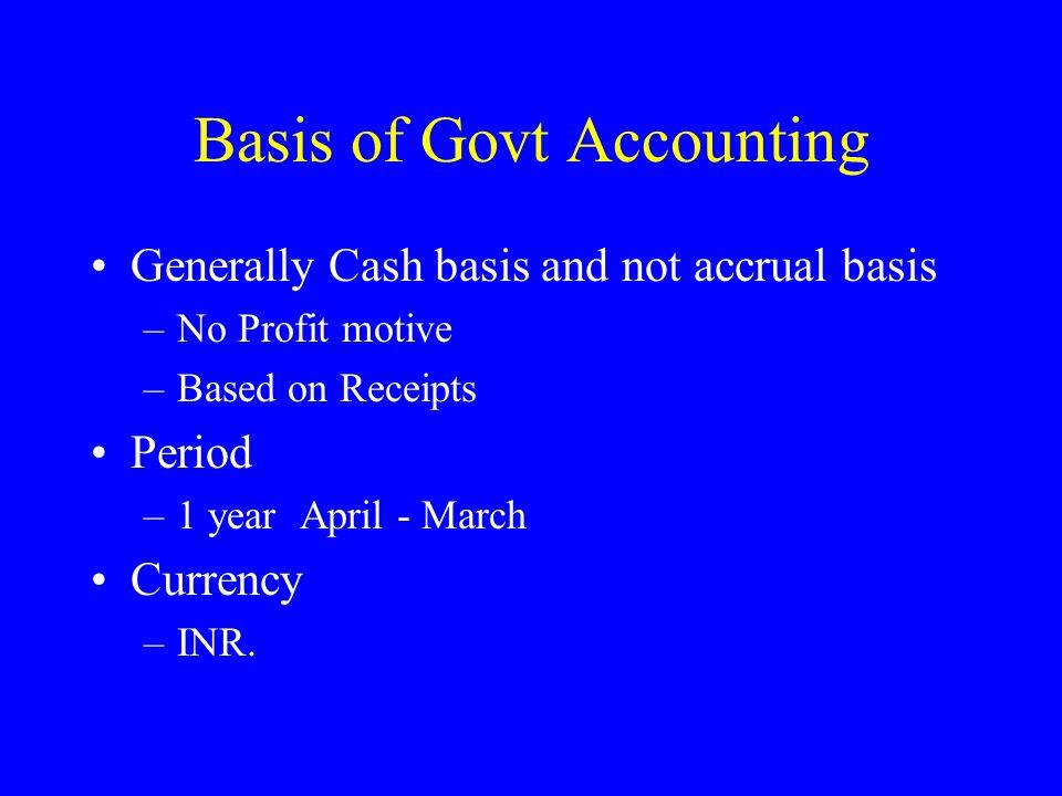 Basis of Govt Accounting