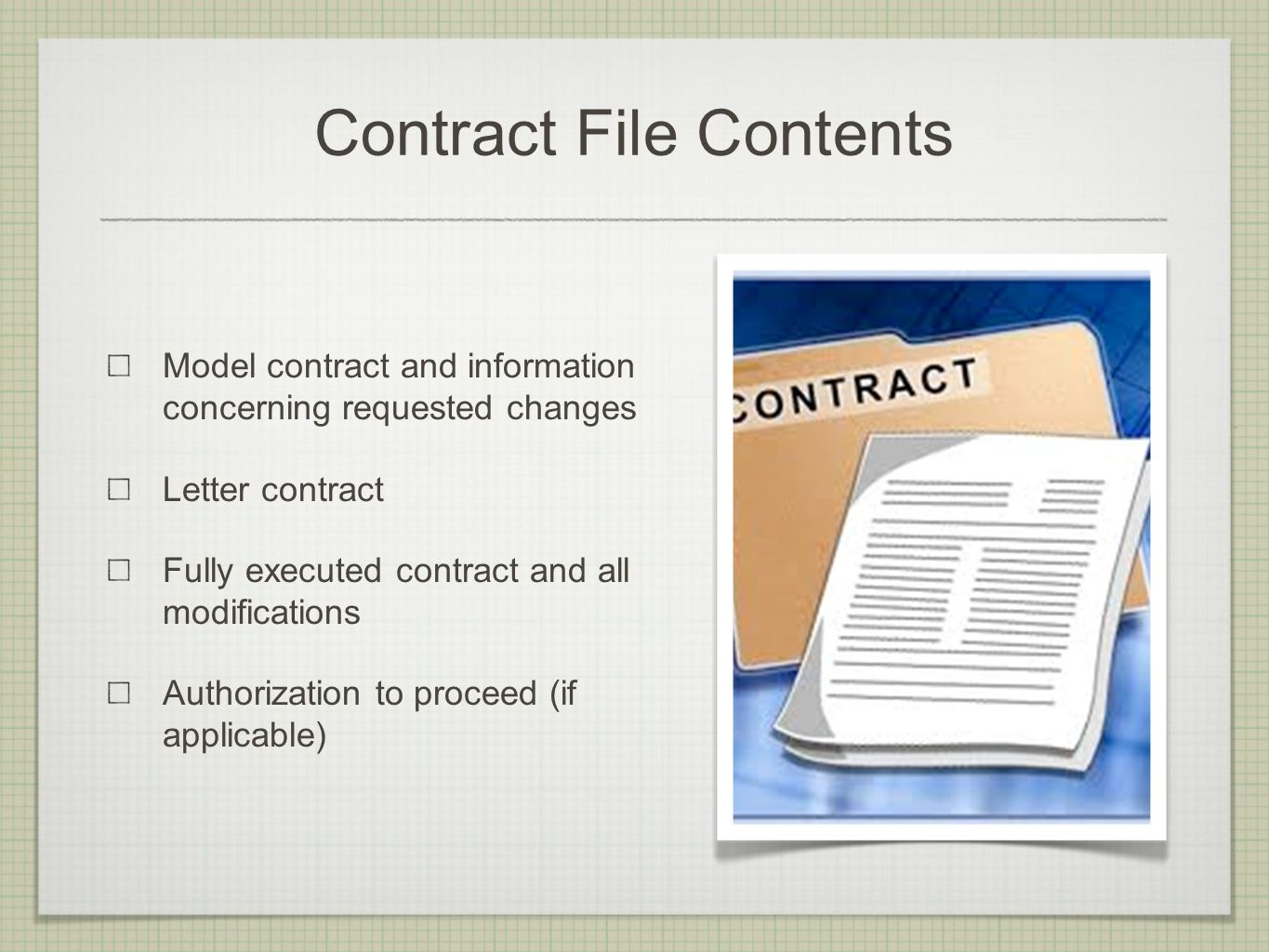I was just awarded a contract now what do i do ppt video online contract file contents platinumwayz