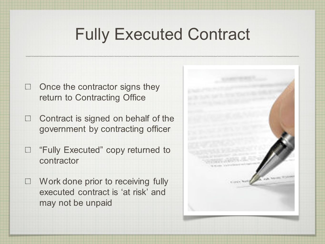 I was just awarded a contract now what do i do ppt video online fully executed contract platinumwayz