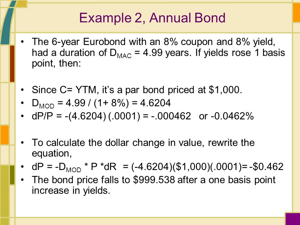Expected bond price with changing yields and coupons