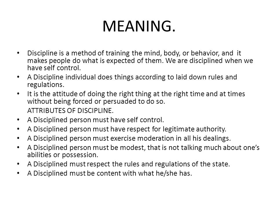 MEANING.