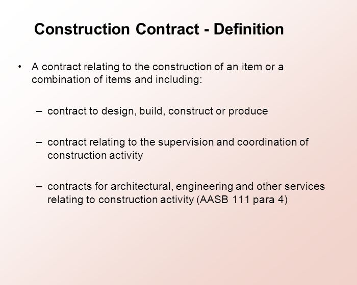 Topic 10 revenue recognition ppt download for Definition construction