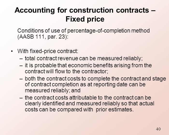 Topic 10 revenue recognition ppt download for Fixed price construction contract