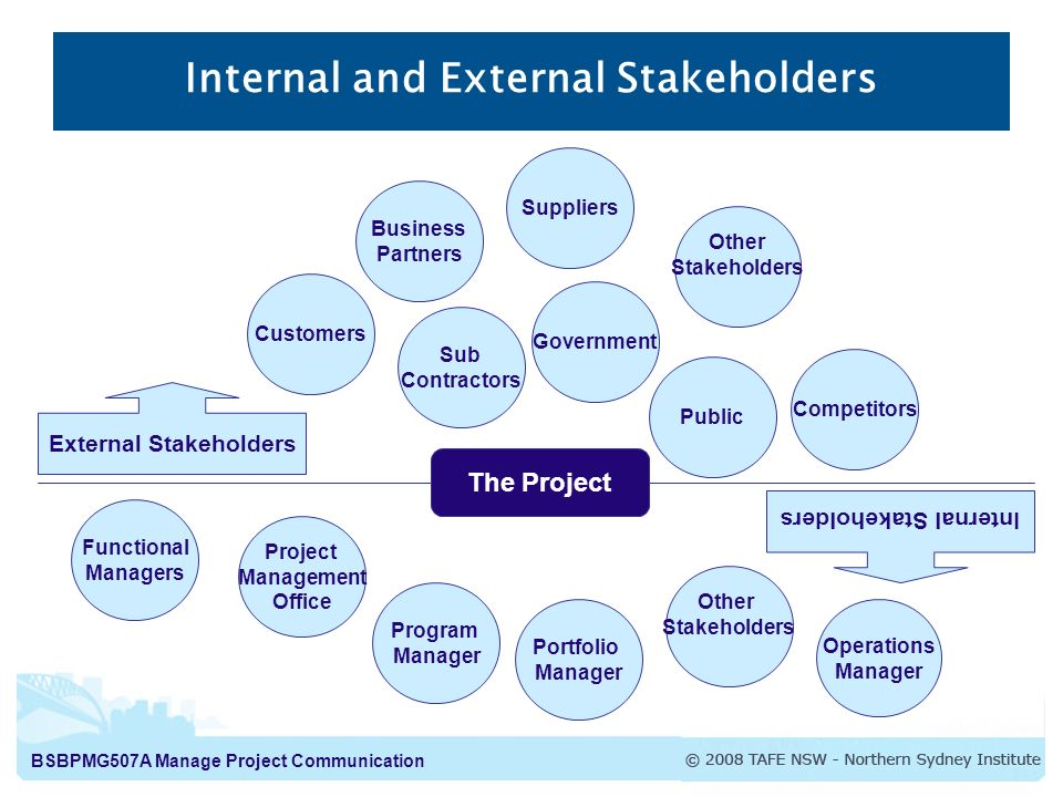 internal and external stakeholders healthcare