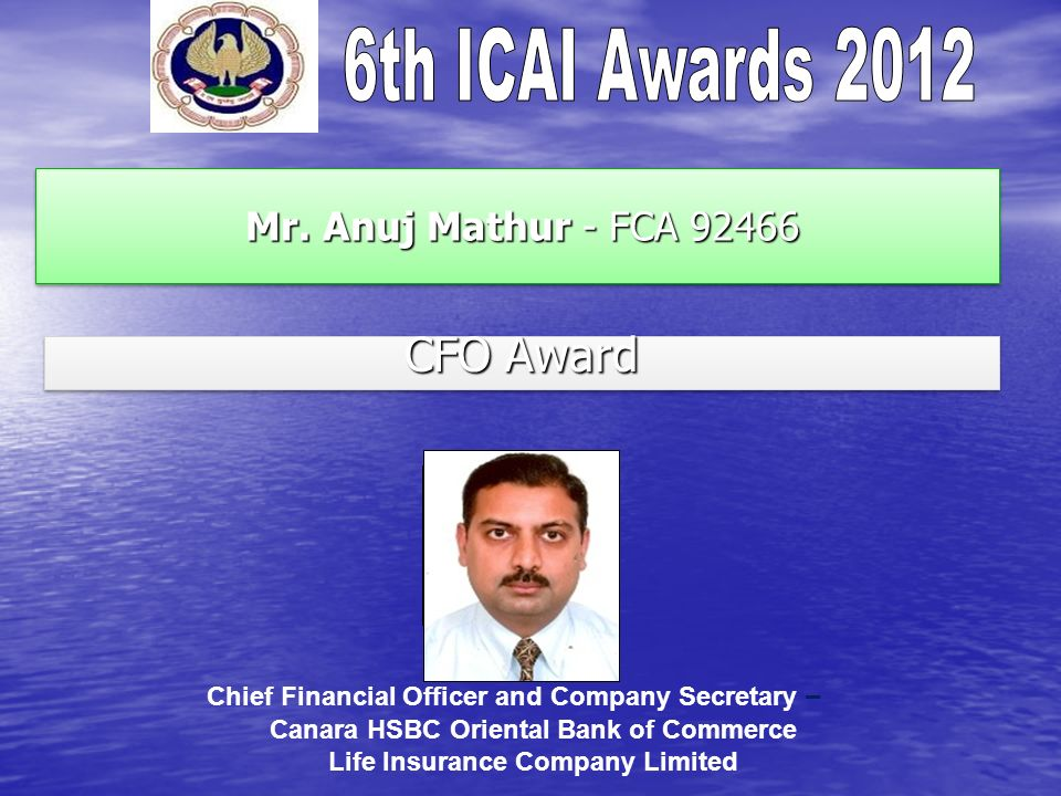 photo CFO Award Mr. Anuj Mathur - FCA 92466