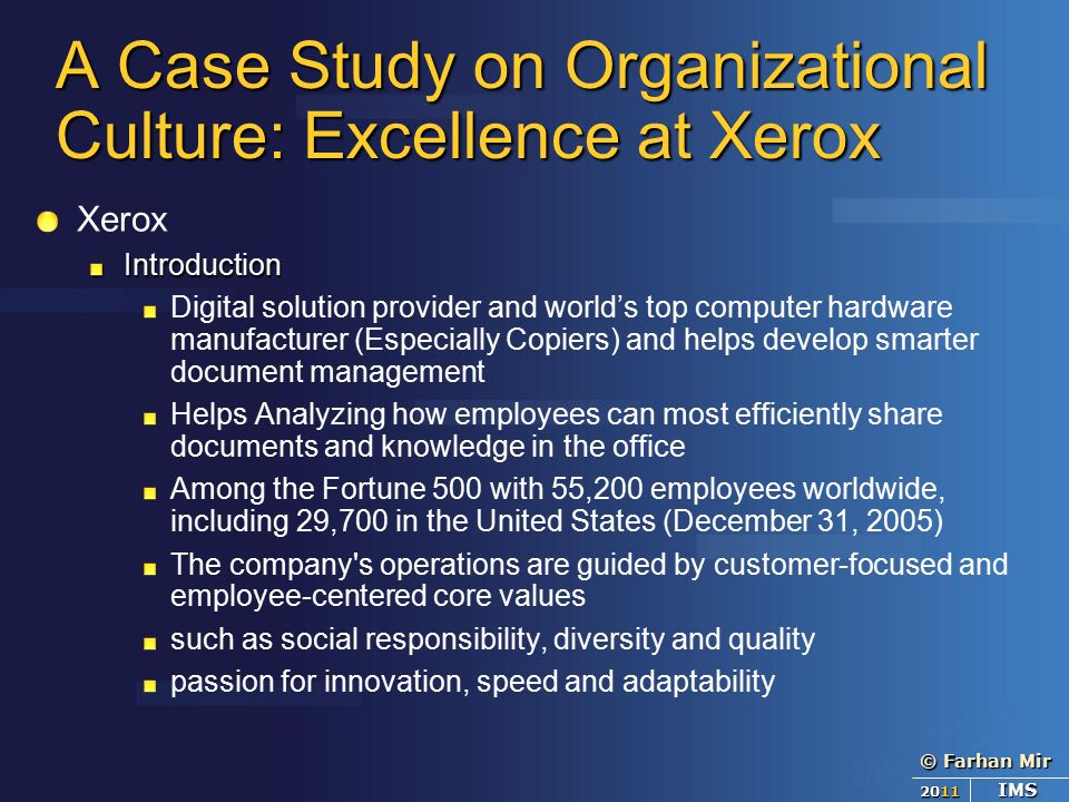 xerox case study Case studies and customer voices for fuji xerox document outsourcing services.