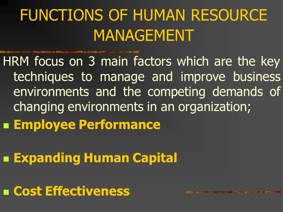 Effectiveness of hrm to improve business performance