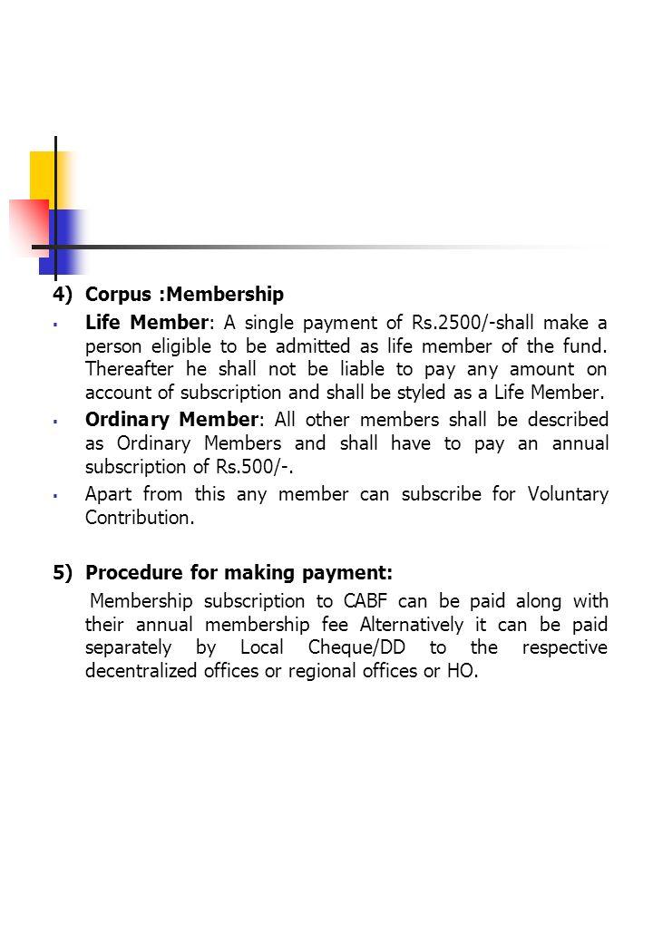 4) Corpus :Membership