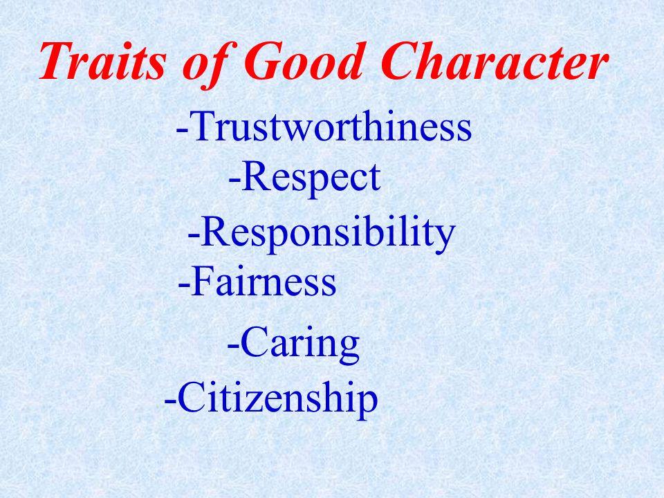Traits of Good Character