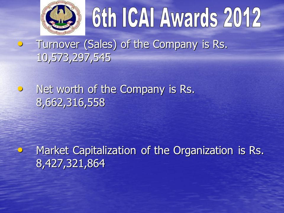 Turnover (Sales) of the Company is Rs. 10,573,297,545