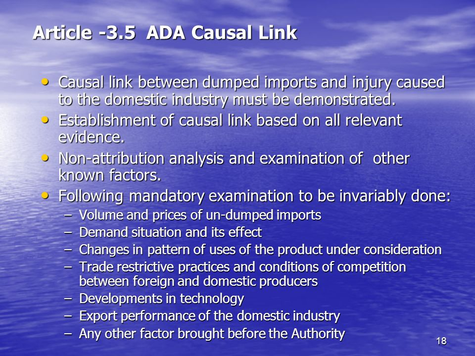 Article -3.5 ADA Causal Link