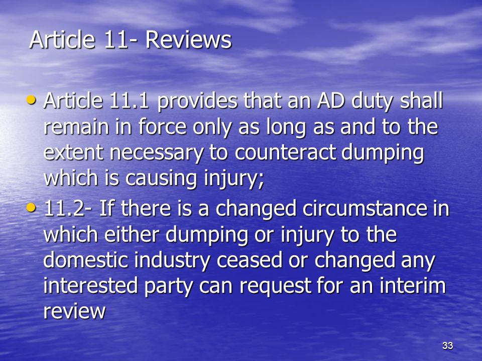 Article 11- Reviews
