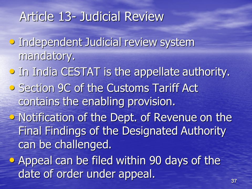 Article 13- Judicial Review