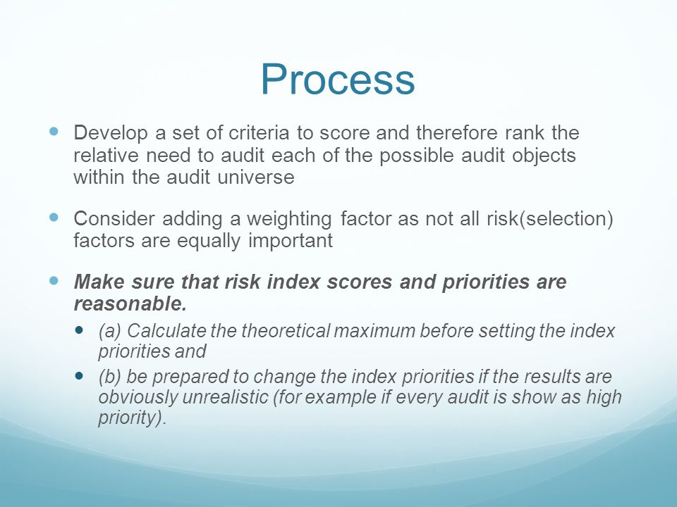 how to develop audit universe