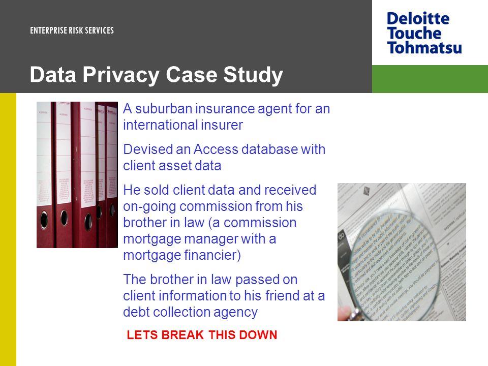 Data Privacy Case Study
