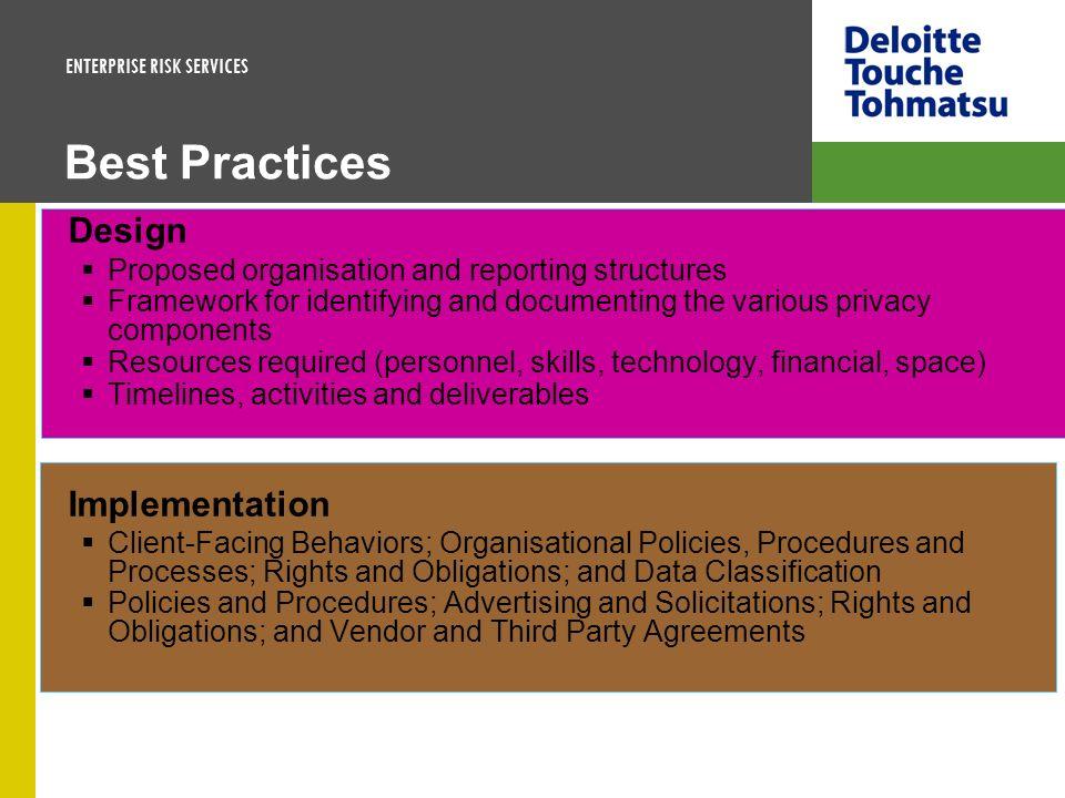 Best Practices Design Implementation