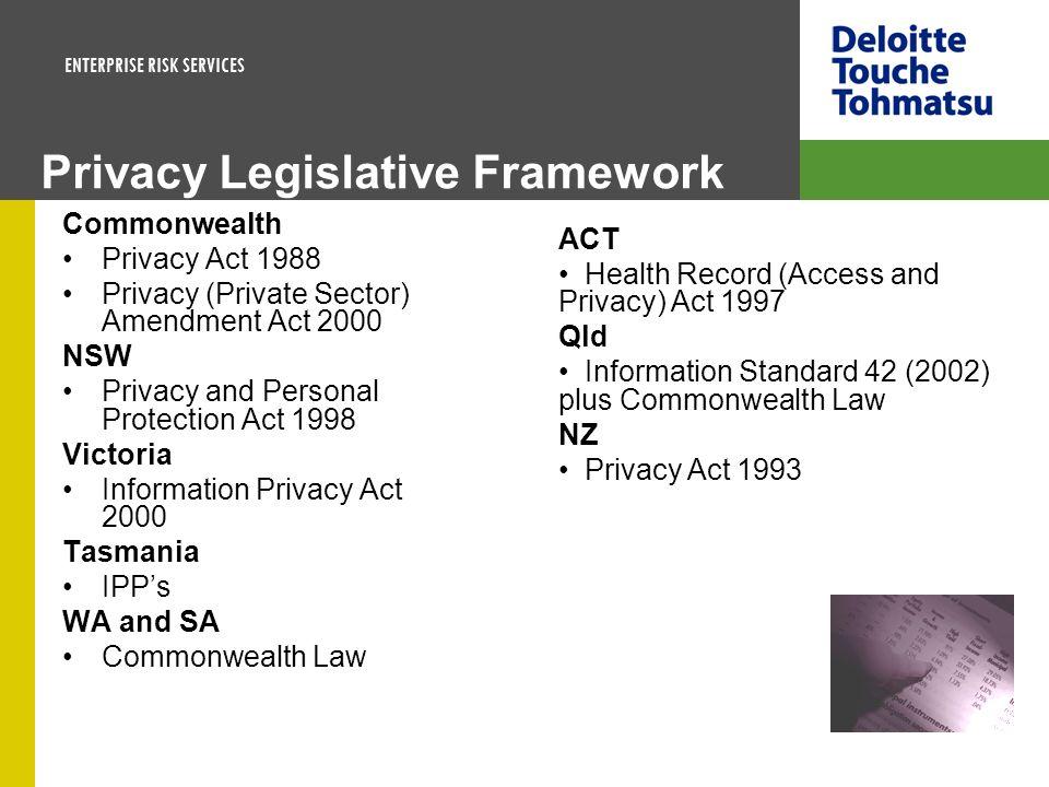 Privacy Legislative Framework