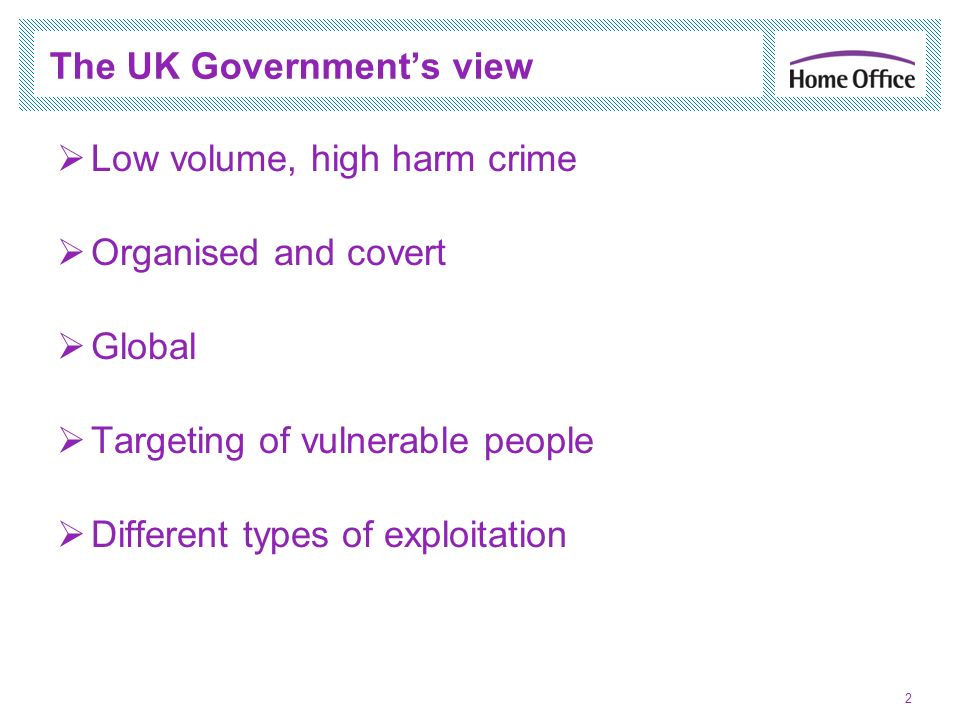 The UK Government's view