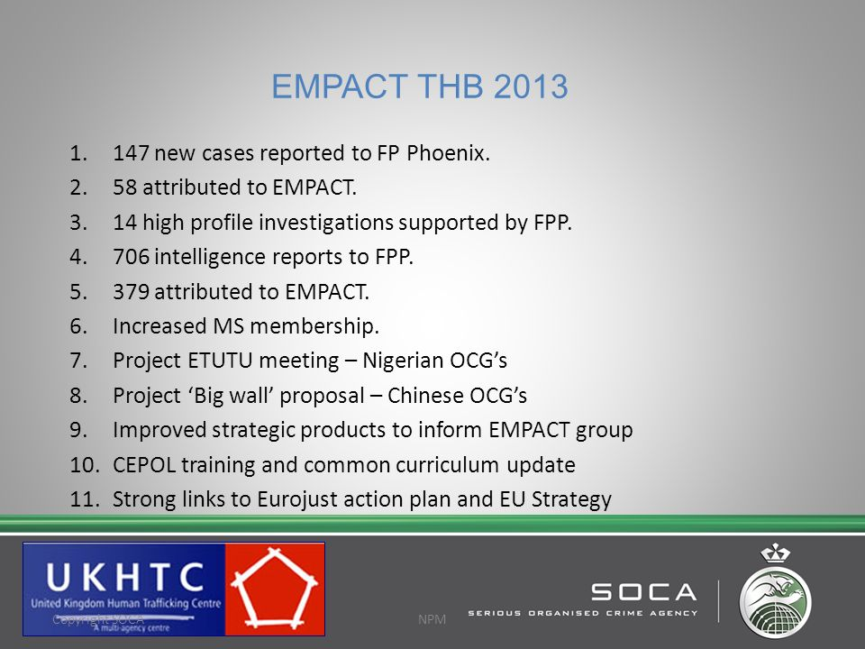 EMPACT THB 2013 147 new cases reported to FP Phoenix.
