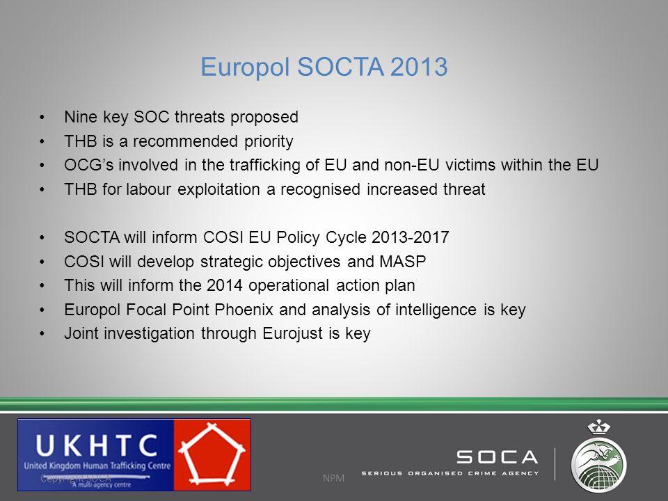 Europol SOCTA 2013 Nine key SOC threats proposed