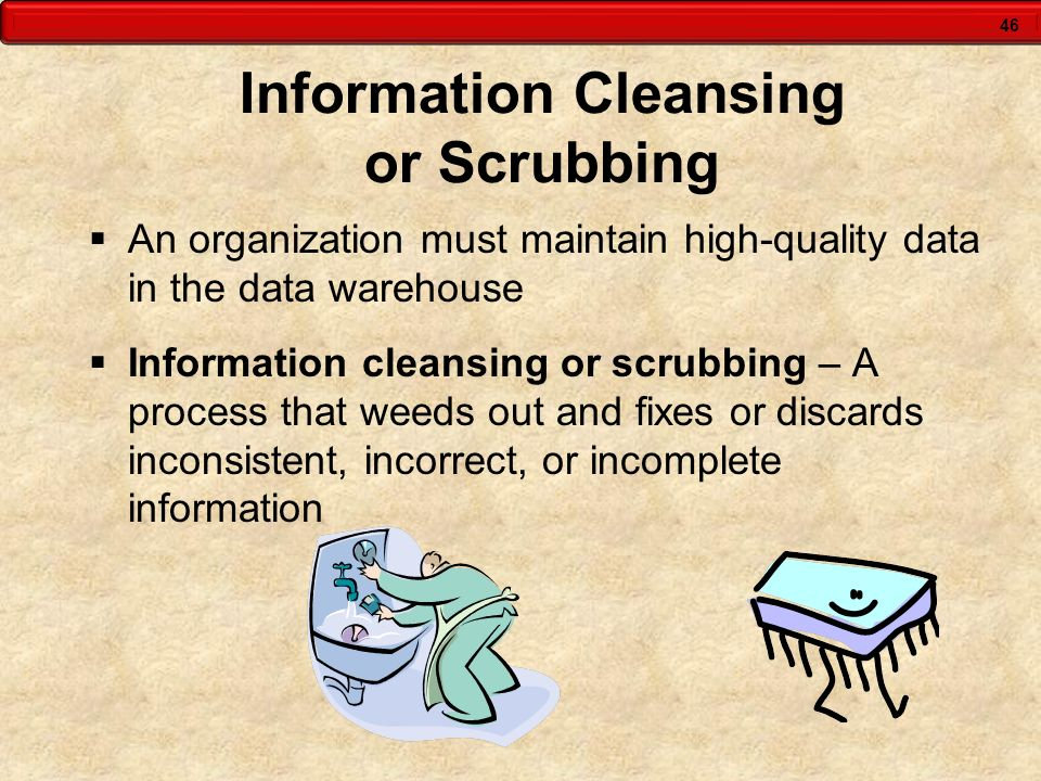Information Cleansing or Scrubbing