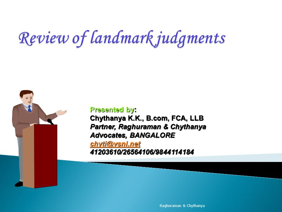 Review of landmark judgments