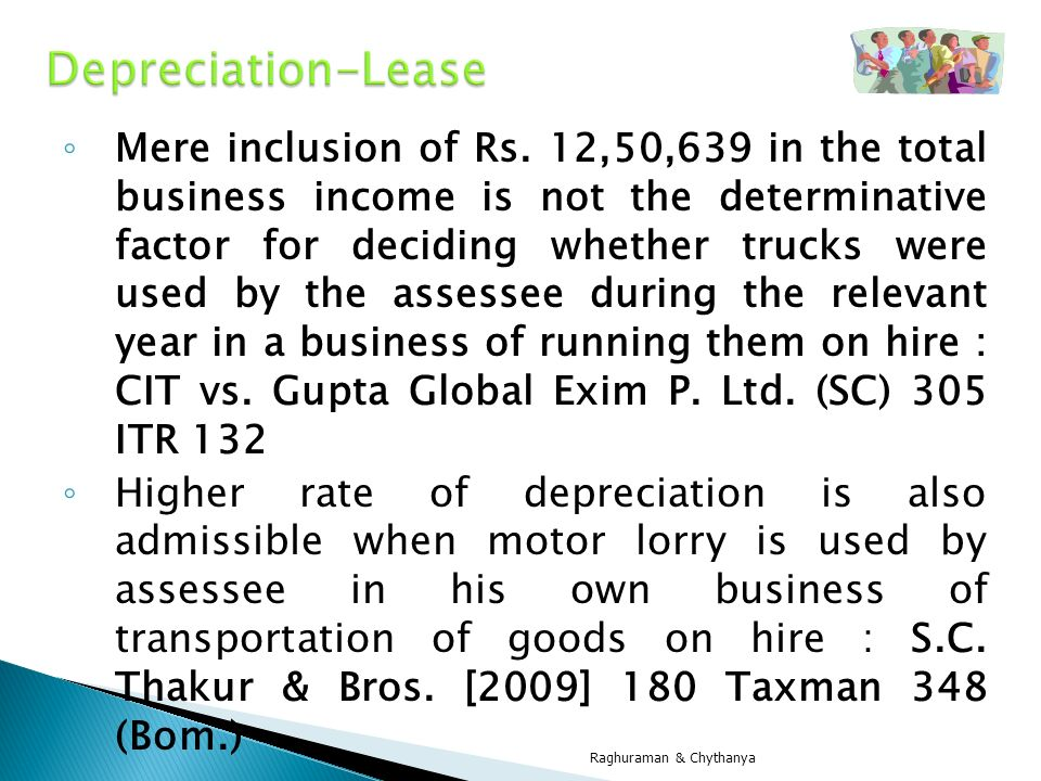 Depreciation-Lease