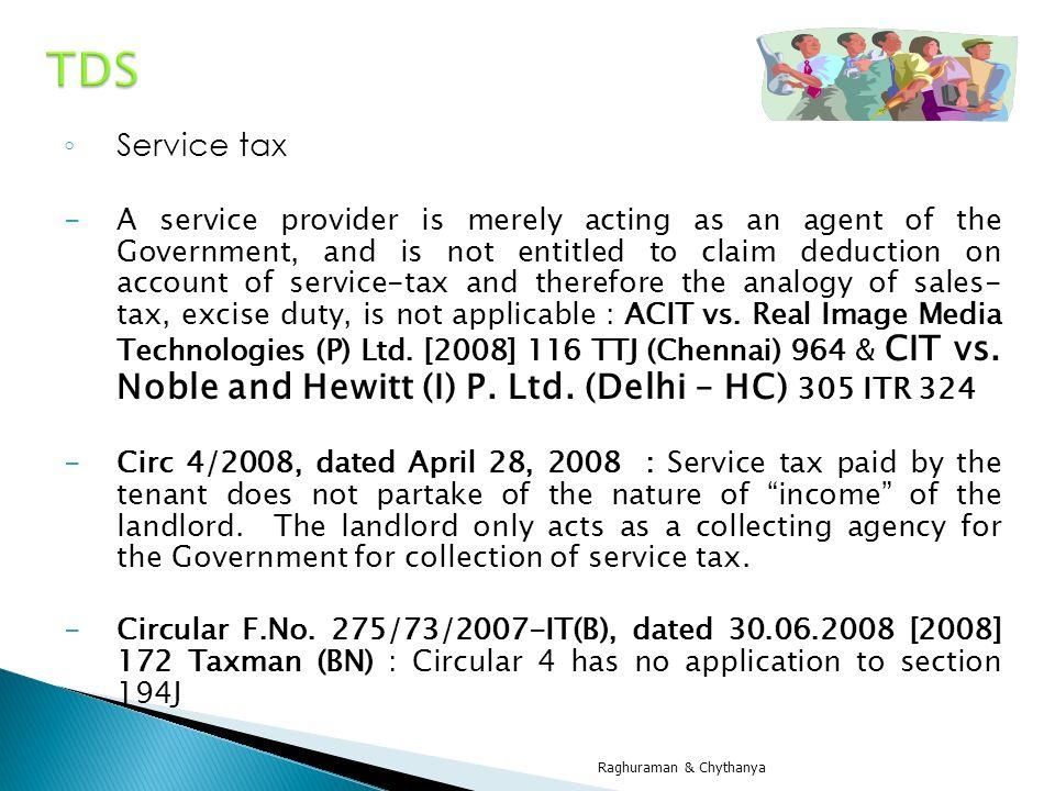 TDS Service tax.