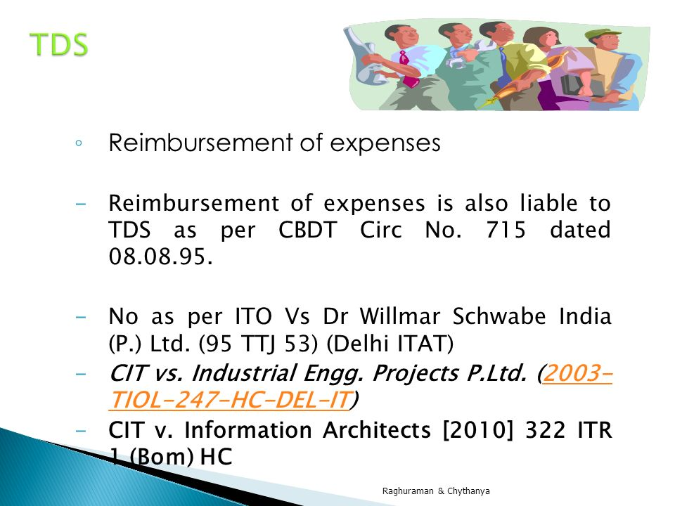 TDS Reimbursement of expenses