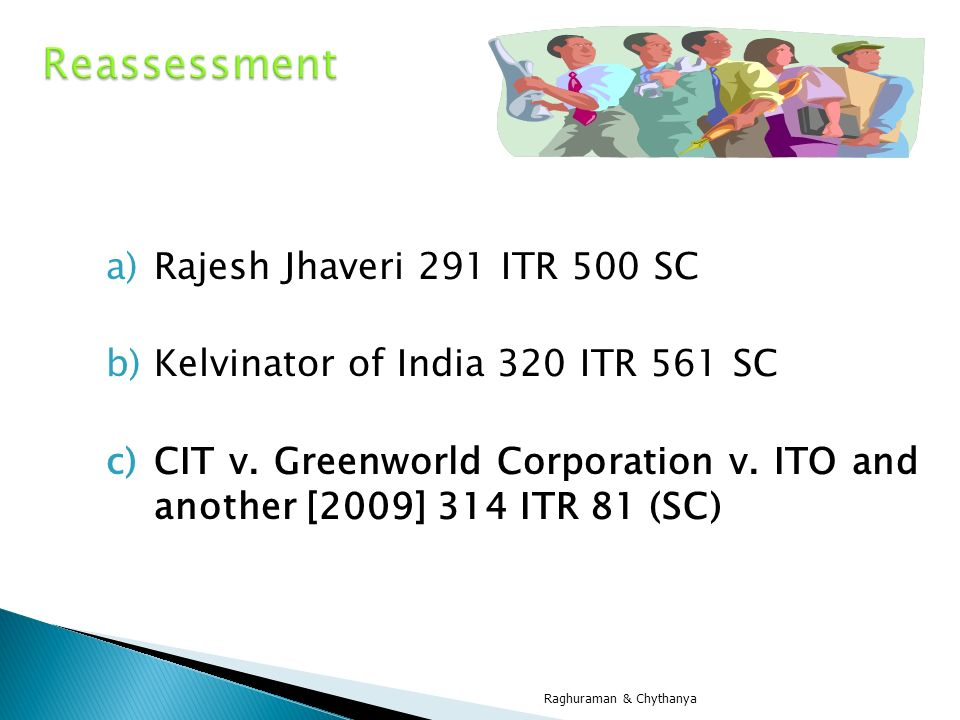 Reassessment Rajesh Jhaveri 291 ITR 500 SC