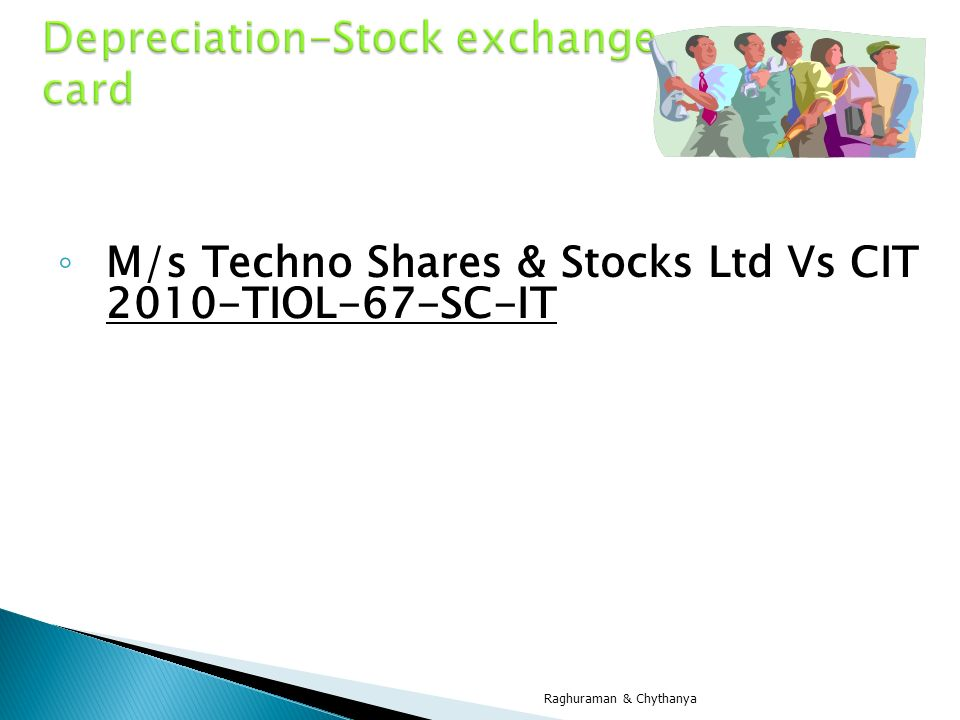 Depreciation-Stock exchange card