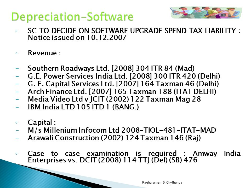 Depreciation-Software