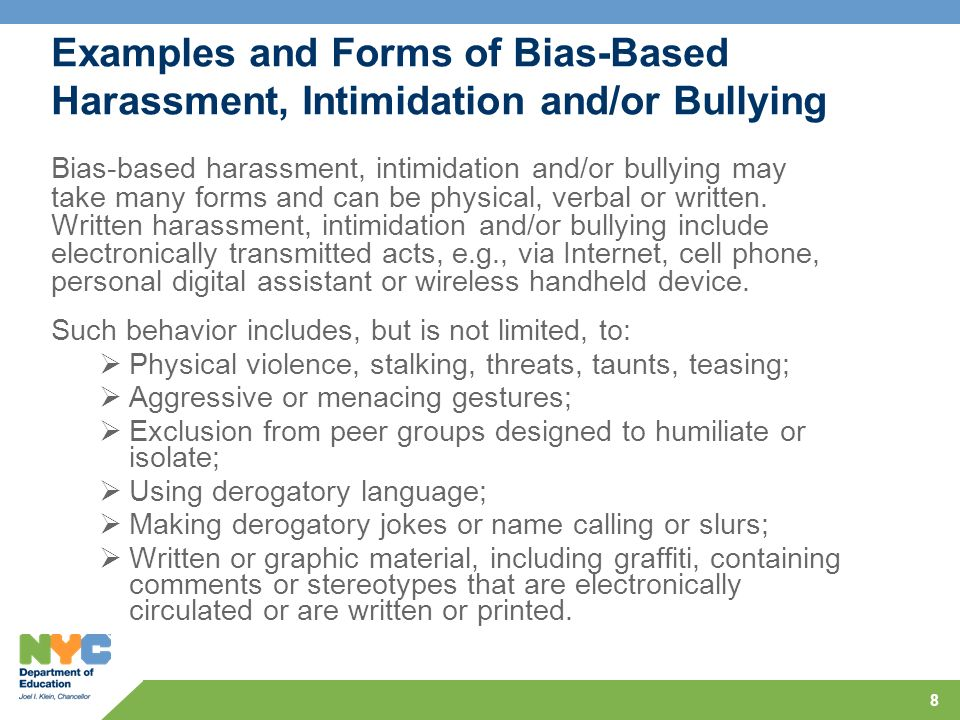 bullying intimidation and harassment dangerous consequences In addition bullying, hazing, harassment and intimidation can contributing to negative consequences in if students are aware of a dangerous situation.