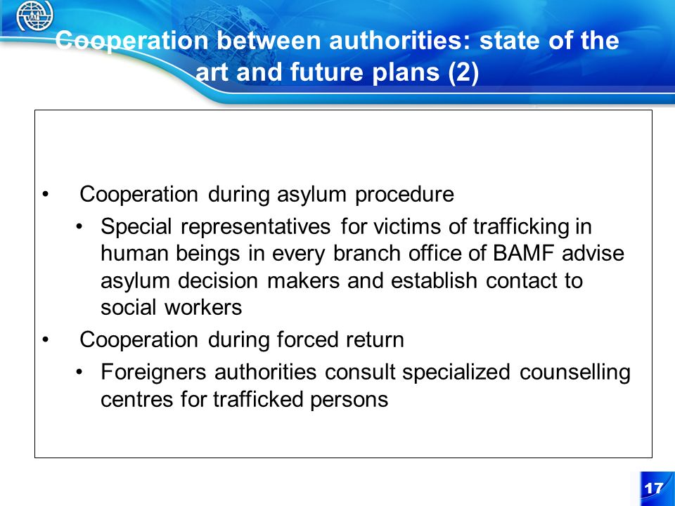 Cooperation between authorities: state of the art and future plans (2)