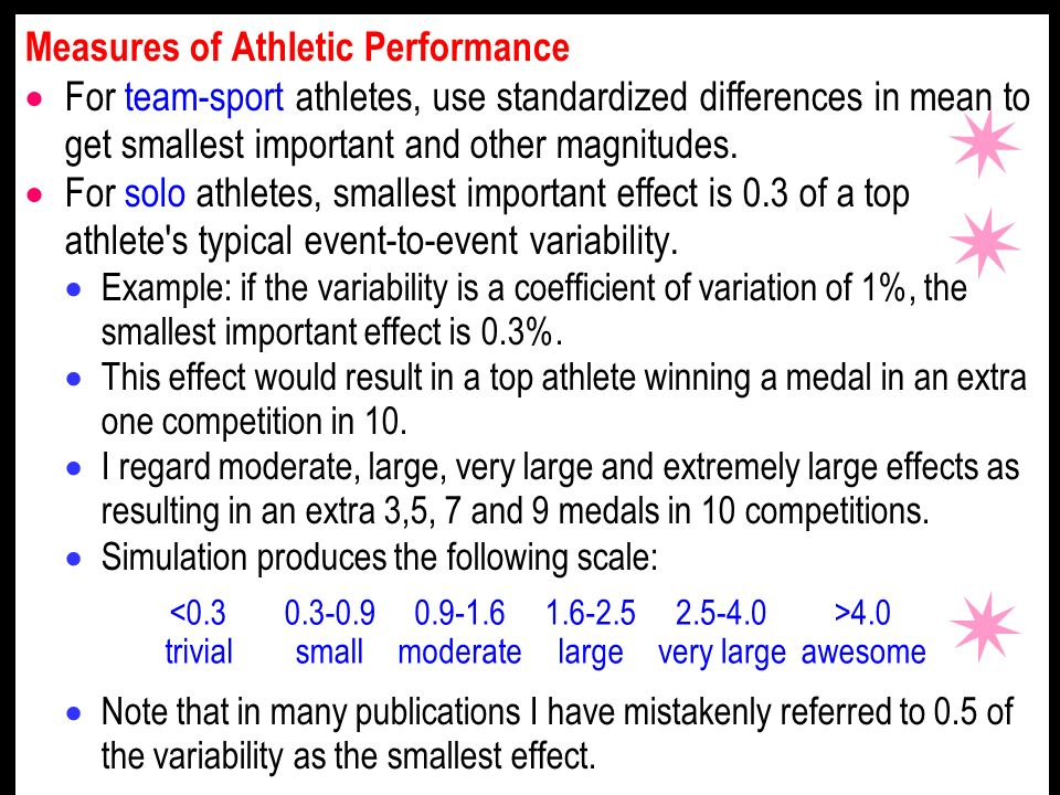Measures of Athletic Performance