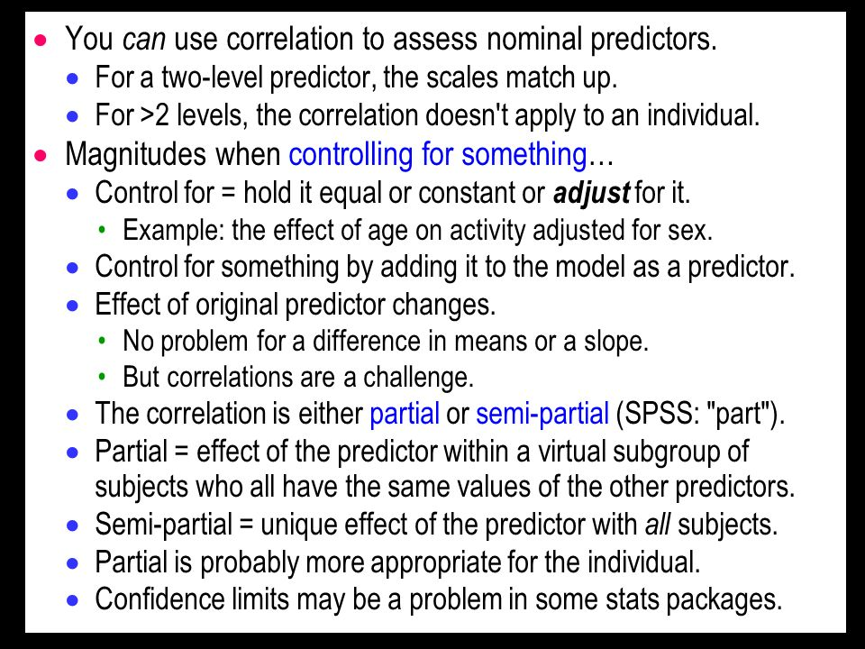 You can use correlation to assess nominal predictors.