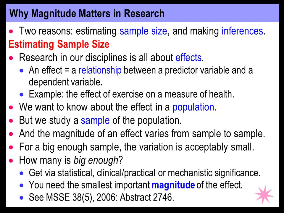 Why Magnitude Matters in Research