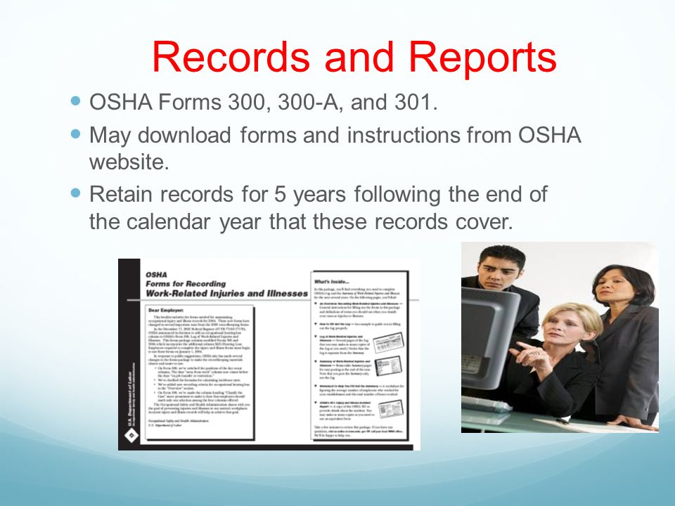 OSHA Long Term Care Worker Protection Program - ppt download