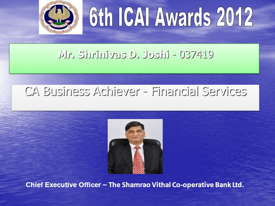 CA Business Achiever - Financial Services