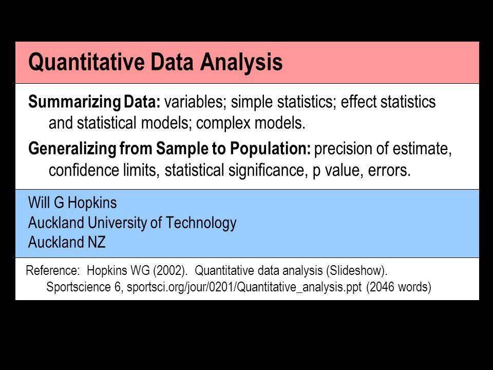 quantitative data analysis Quantitative data analysis, gerontology, global health & social medicine.