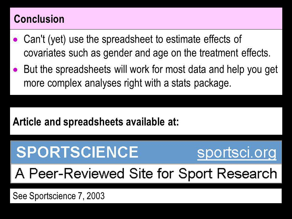 Article and spreadsheets available at: