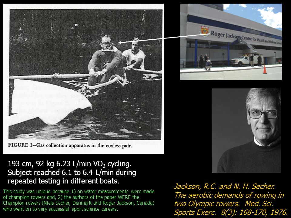 Jackson, R.C. and N. H. Secher. The aerobic demands of rowing in