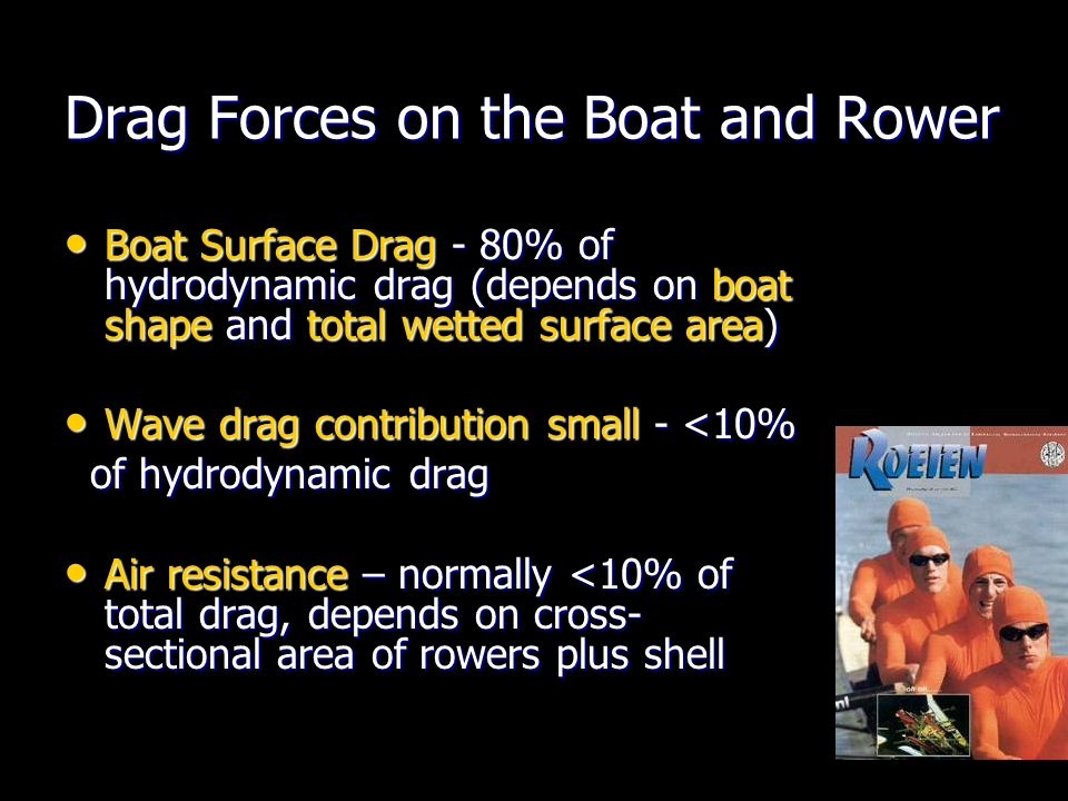 Drag Forces on the Boat and Rower