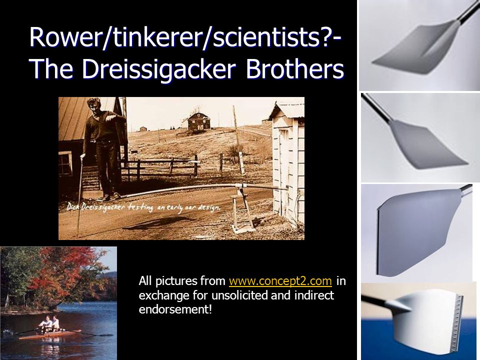 Rower/tinkerer/scientists - The Dreissigacker Brothers