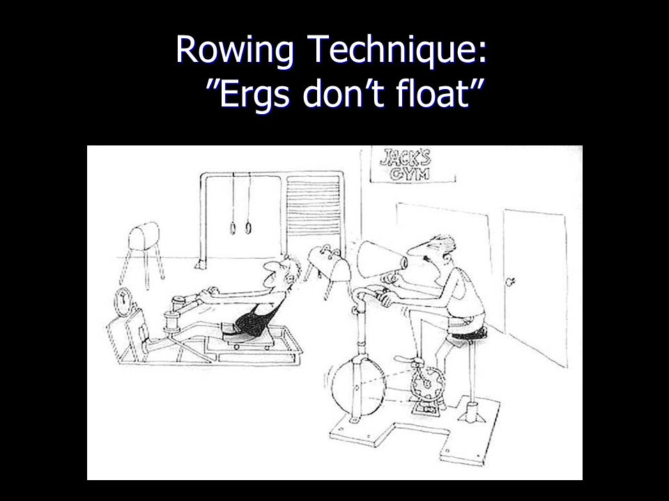 Rowing Technique: Ergs don't float