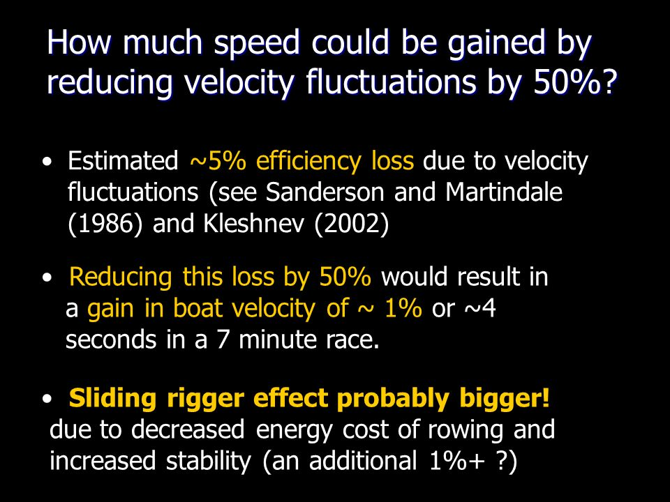 How much speed could be gained by reducing velocity fluctuations by 50%