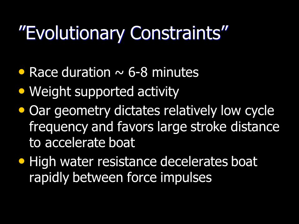 Evolutionary Constraints