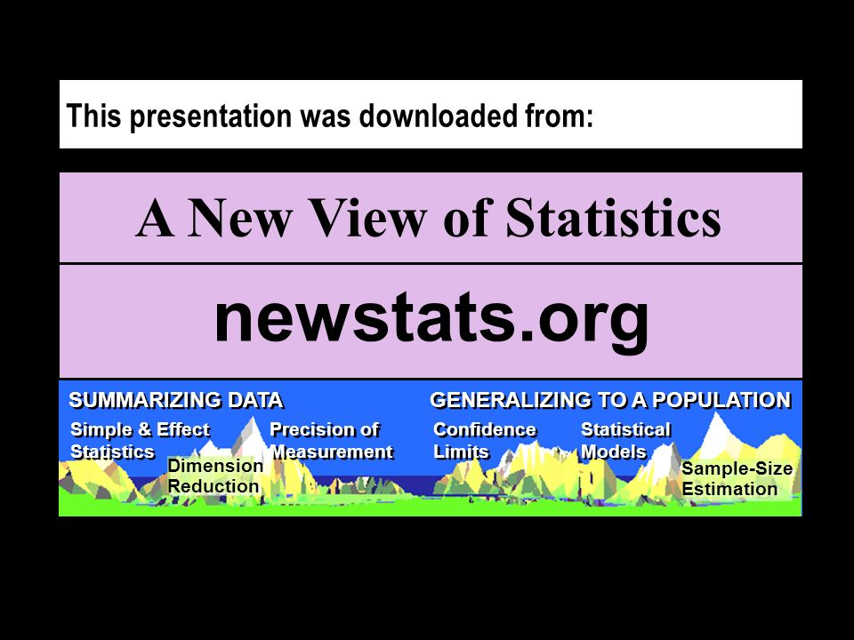A New View of Statistics