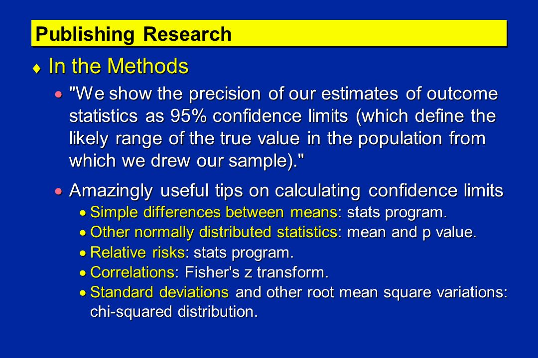 In the Methods Publishing Research