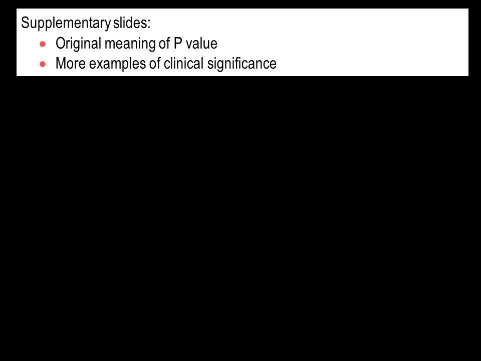 Supplementary slides: